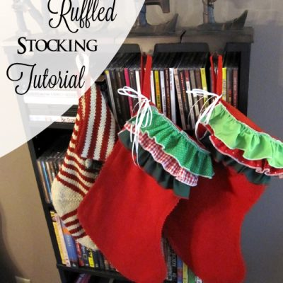 20 Minute Ruffled Stocking Tutorial