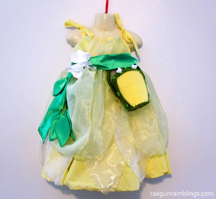 How to make a princess tiana dress