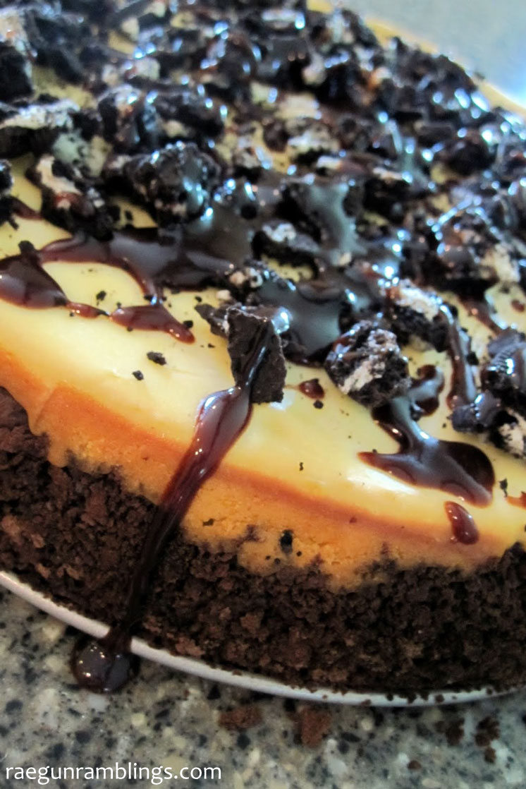 No more cheesecake factory for me this oreo cheesecake recipe is is SO good and easy. Turns out perfect as long as you follow the directions. Great chocolate creamy dessert.
