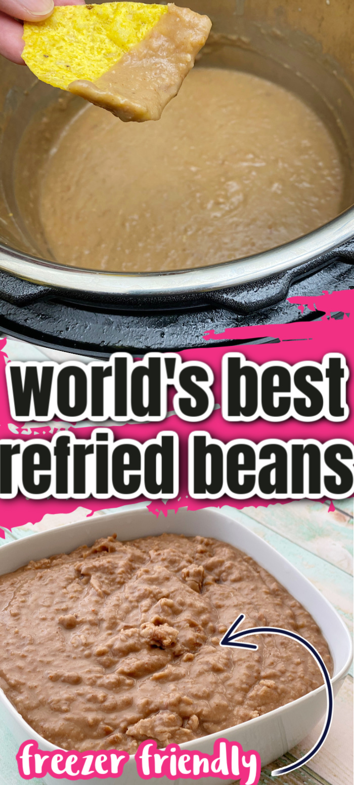Hands down the best easy refried beans recipe with instant pot, crock-pot and stove top directions. Plus freezes great too. Won't buy the canned stuff any more. via @raegun