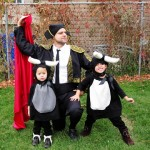 baby bull and matador DIY costumes