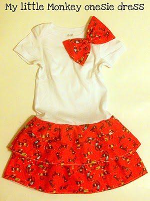 Guest Post: Little Monkey Onesie Dress