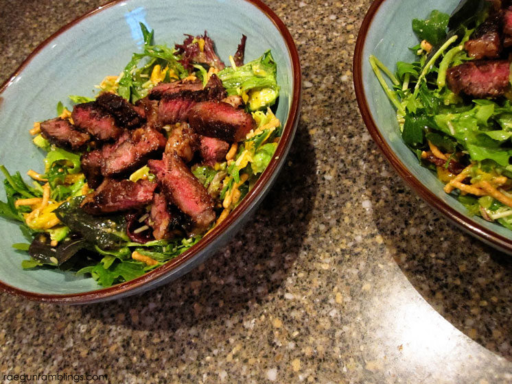 Love this teriyaki steak and mango salad such an easy dinner recipe