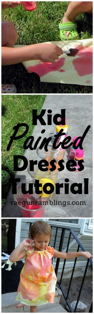 Fun activity to do with the kids. Painted fabric or clothes! Tutorial at Rae Gun Ramblings