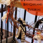 Halloween Boo Garland Tutorial - Rae Gun Ramblings #halloween #craft #diy