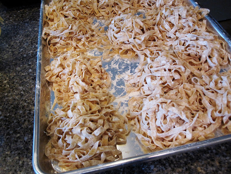 Homemade pasta recipe ready for the freezer