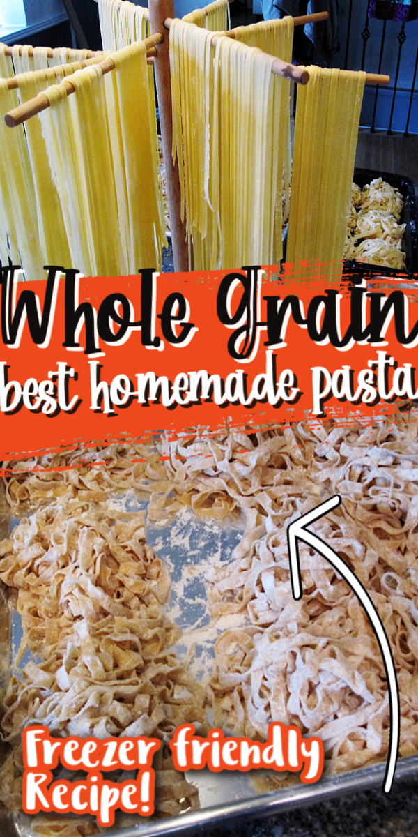 The best EASY whole grain homemade pasta recipe via @raegun