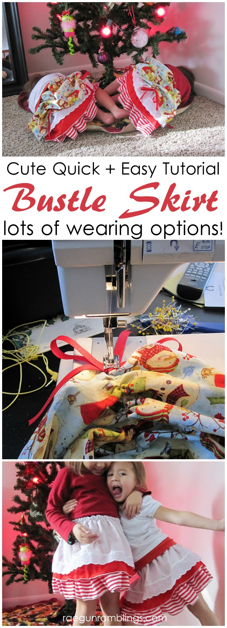 Too cute. Easy sewing tutorial for bustle skirts. The layers makes for lots of wearing options. Great DIY tutorial
