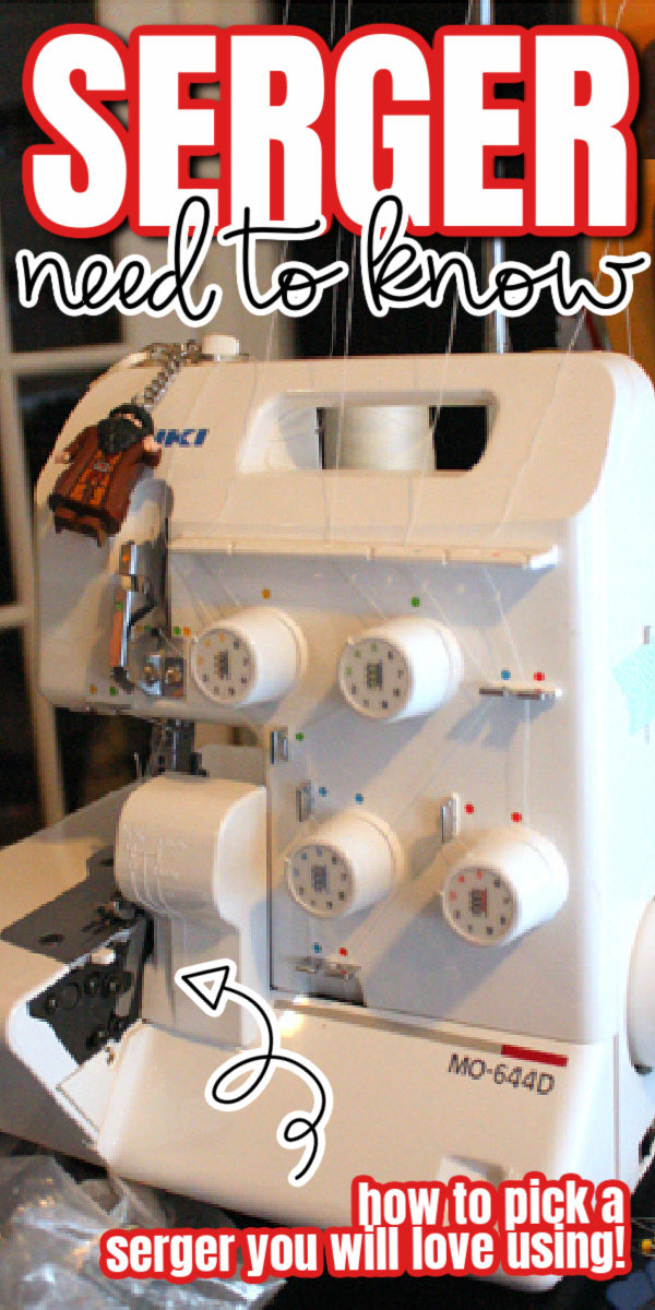 Serger sewing machine with Hagrid from Harry Potter