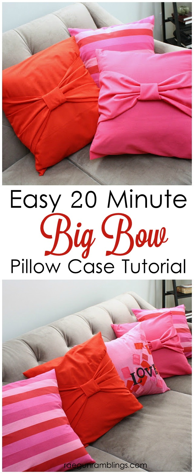 big bow pillow cases 20 minute tutorial simple sewing project perfect for beginners