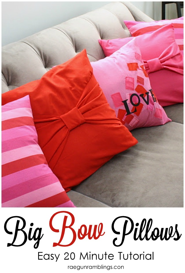 Easy Sewing Tutorial. 20 Minute Big Bow Pillow Cases   Rae Gun Ramblings