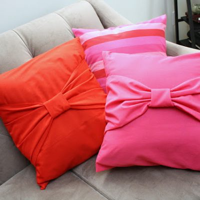 Tutorial: Big Bow Pillow Cases