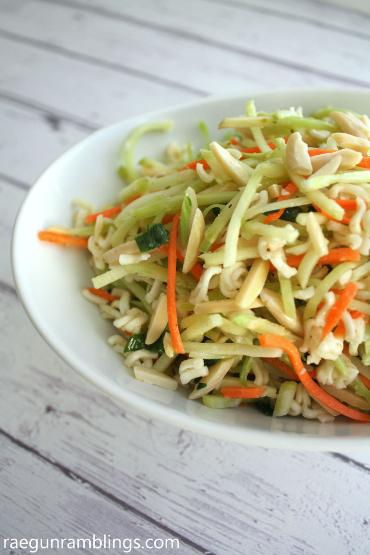 Will make again. Everyone loved it. Light and healthy broccoli slaw recipe.