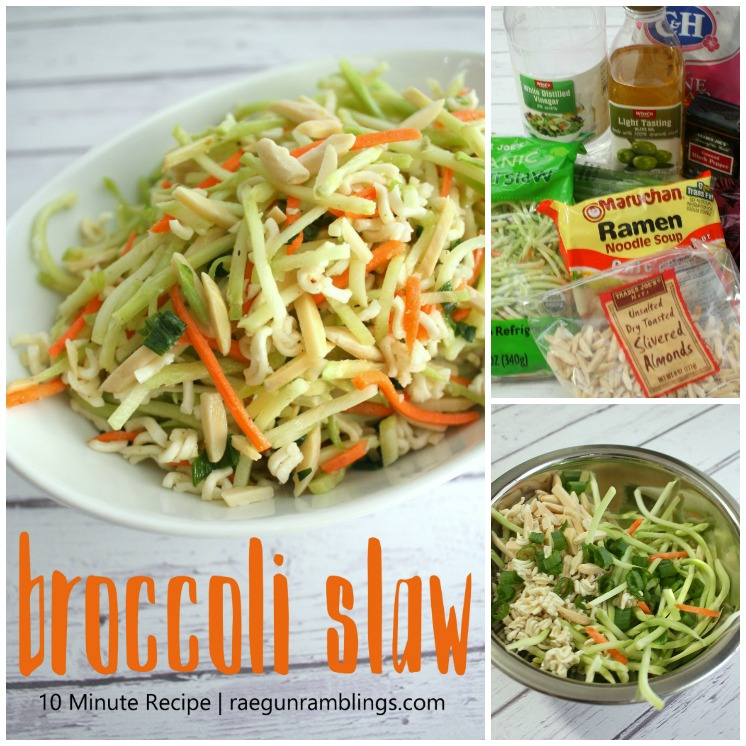 10 minute broccoli slaw recipe. Love making this vegetable side dish for healthy lunch and dinners goes great with chicken