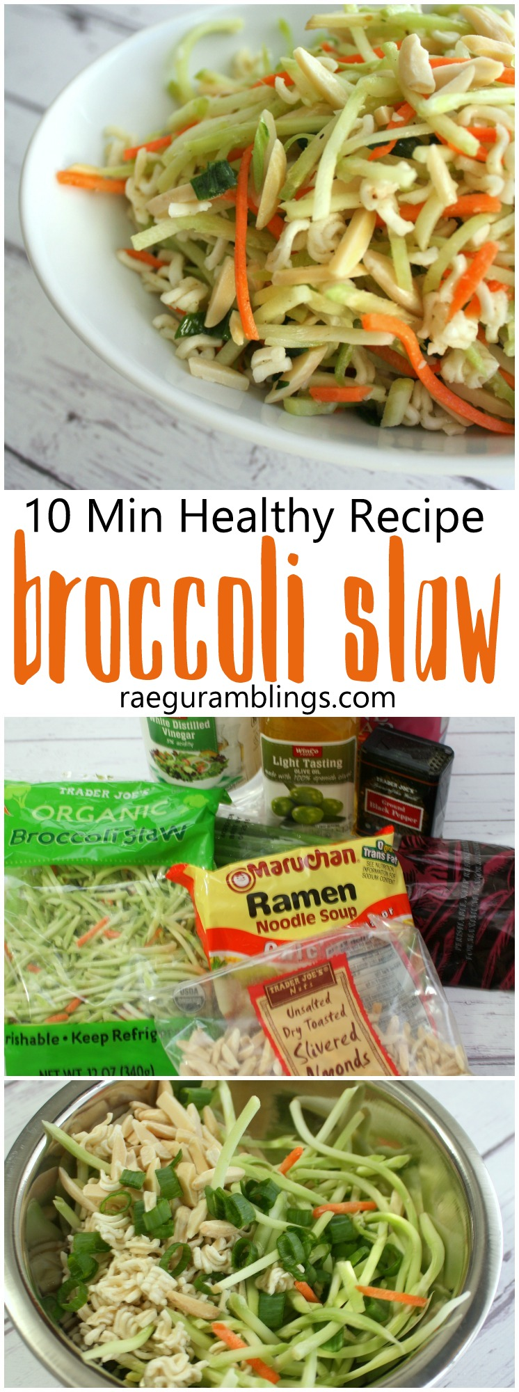 New family favorite. Even the kids asked for more will be making this fast broccoli slaw recipe again. Perfect for lunch or dinner with a rotisserie chicken and great to make ahead for picnics and potlucks