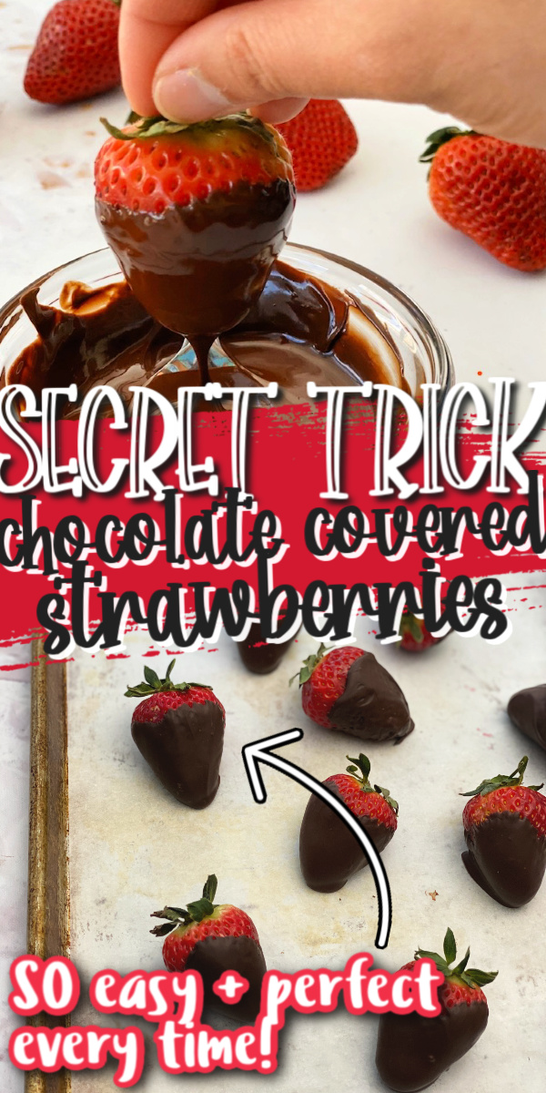 How to make perfect chocolate covered strawberries. So easy and works every time.