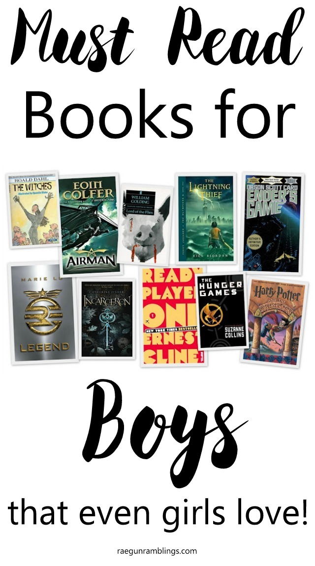 Great reading list for teens that are boy friendly. These reads are great for both boys and girls.