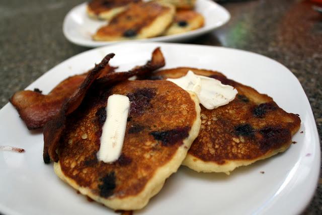 Blueberry Cheese Buttermilk Pancake