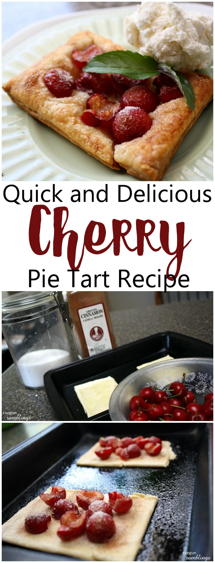 New go to dessert and snack. This cherry pie tart recipe is fantastic and happens to be naturally vegan.
