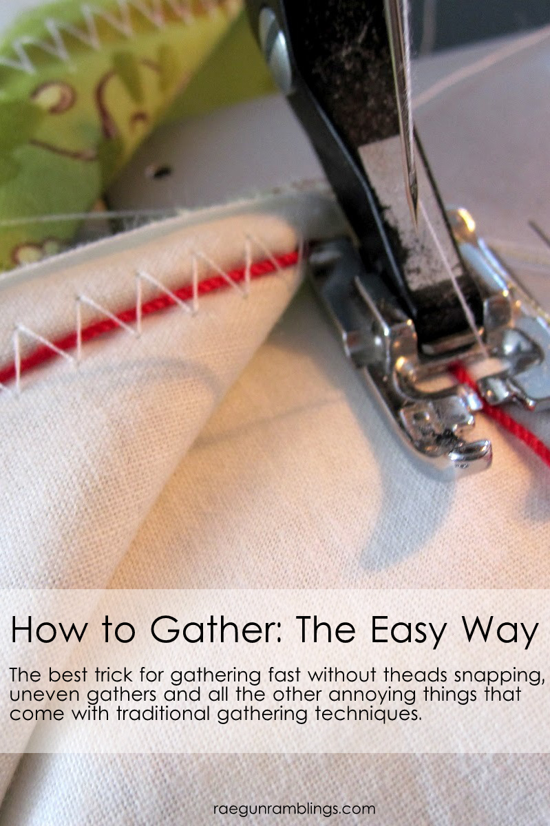 Sewing: How to Gather the Easy Way