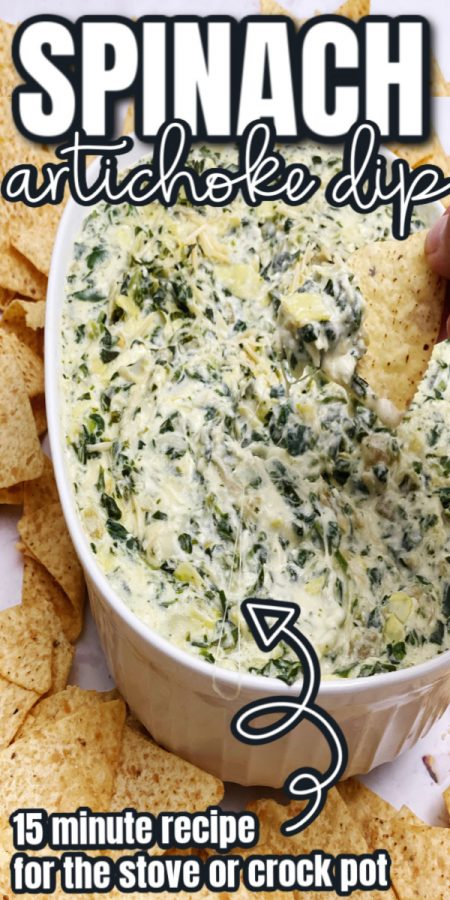 best spinach artichoke dip recipe. great potluck and party appetizer
