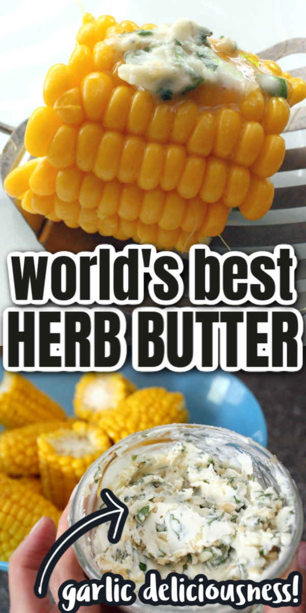 garlic herbed butter recipe perfect for vegetables and meat via @raegun
