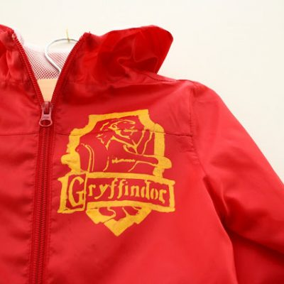 Gryffindor Jacket Tutorial and New and Improved Freezer Paper Stenciling Instructions