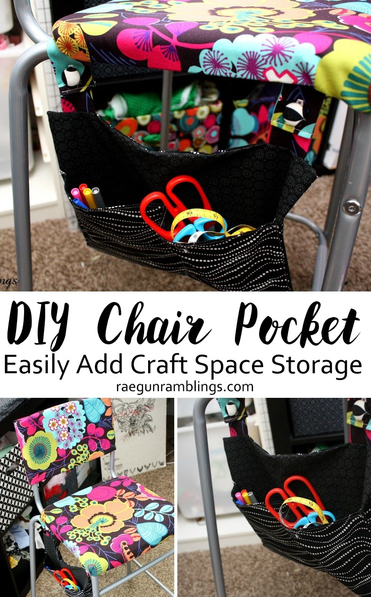 DIY Chair Pocket Tutorial. Fast sewing project to add storage space and home decor.