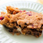 chocolate and cranberry blondies-002