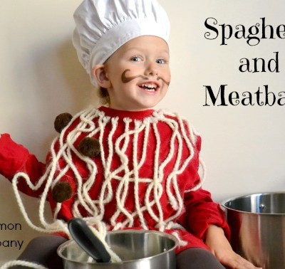 Handmade Halloween: Spaghetti and Meatballs Costume Tutorial from Simple Simon and Co
