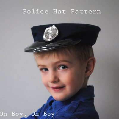 Handmade Halloween: Policeman Hat Pattern and Tutorial from Boy, Oh Boy, Oh Boy!