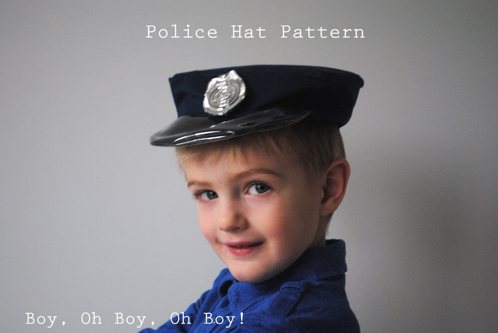 DIY police hat sewing tutorial fun halloween costume idea