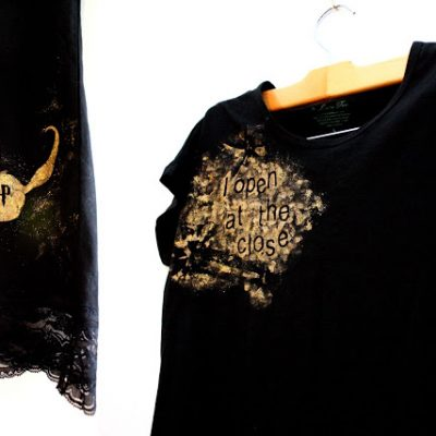 Guest Posting: Harry Potter Snitch Shirt and Stencil