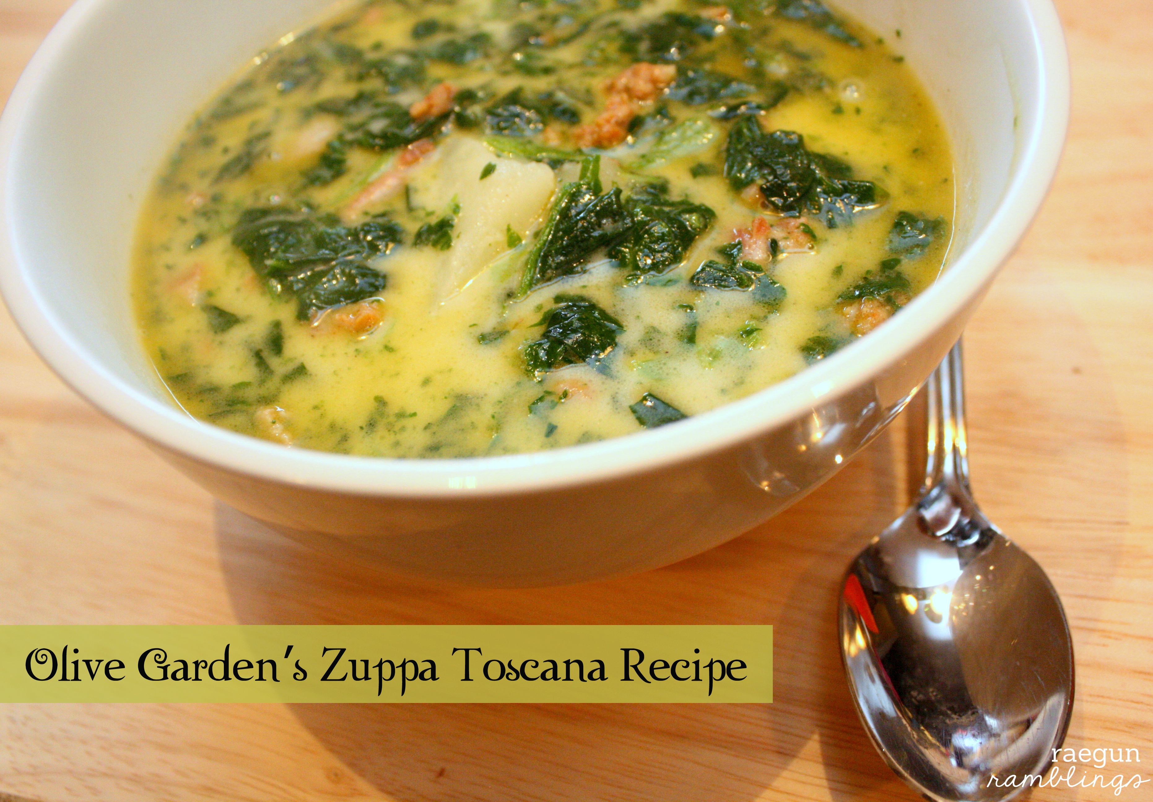 Recipe Olive Garden Zuppa Toscana Rae Gun Ramblings
