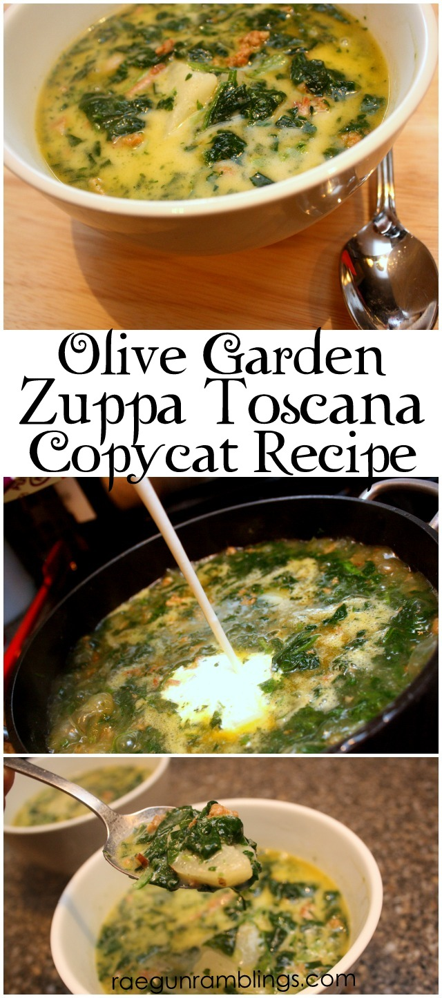 zuppa toscana olive garden soup copycat recipe - Rae Gun Ramblings