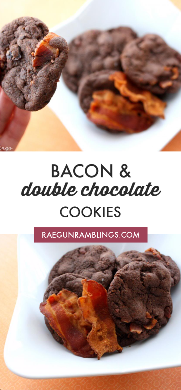 DOUBLE CHOCOLATE AND BACON COOKIES