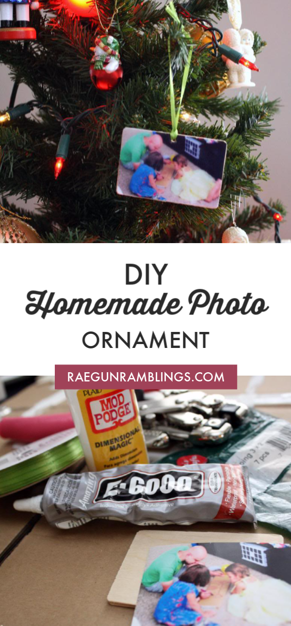 DIY homemade Photo Ornament