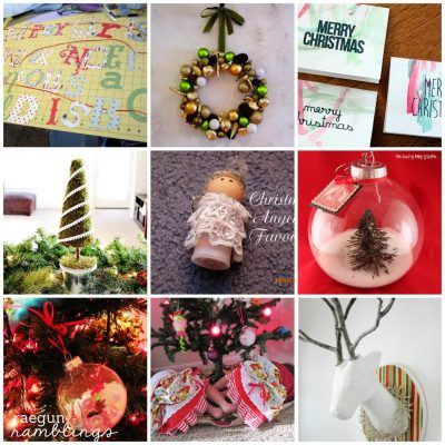 What We Wore, Read, and Made Link Party: Christmas Craft Features