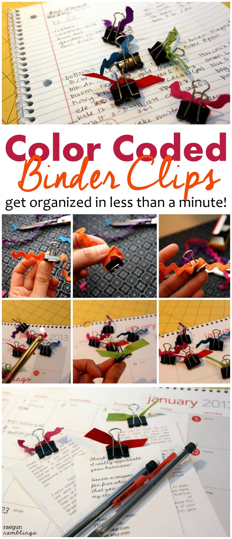 Made a bunch of these and they are perfect for staying organized. Fast and cheap DIY tutorial for office binder clips