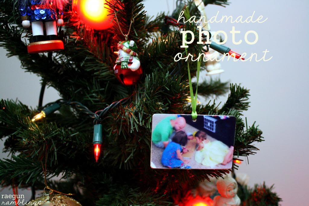 Handmade photo ornament