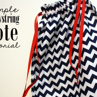 Simple Drawstring Tote Tutorial