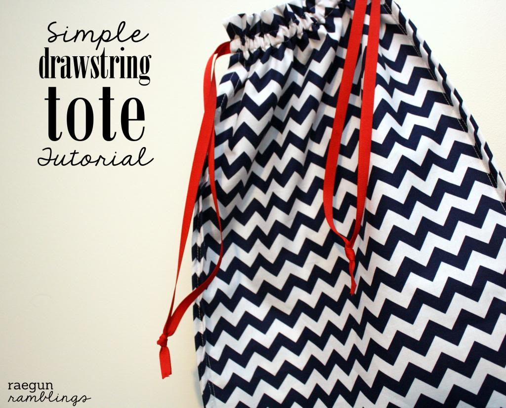 Drawstring tote tutorial