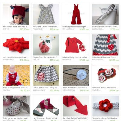 Treasury Love: Silver and Red