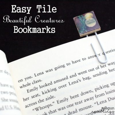 Book Club: Beautiful Creatures Movie, Tile Bookmarks, Candy Bags, Printables and More