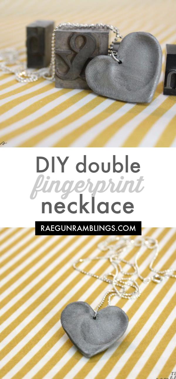 double fingerprint lovers necklace