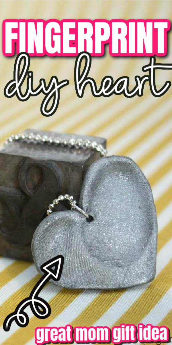 how to make a fingerprint heart necklace or key chain. easy craft tutorial great mother's gift via @raegun