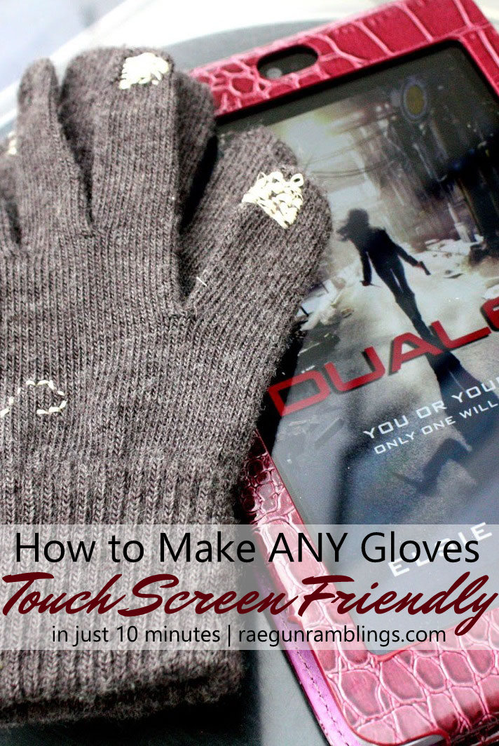 This is great I made my favorite gloves touch screen friendly so fast. Great basic sewing tutorial