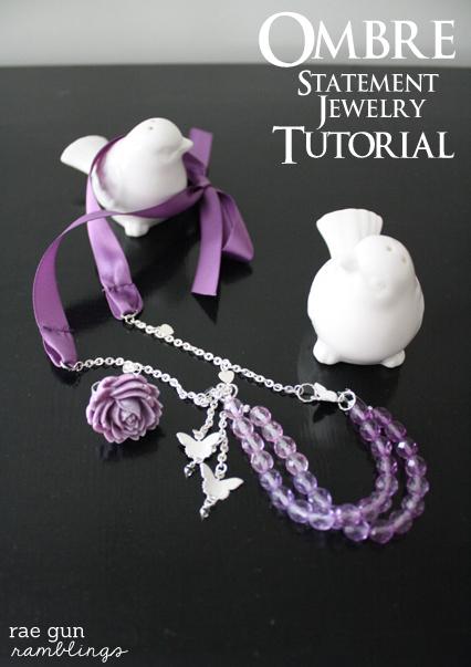 DIY statement jewelry tutorial at Rae Gun Ramblings