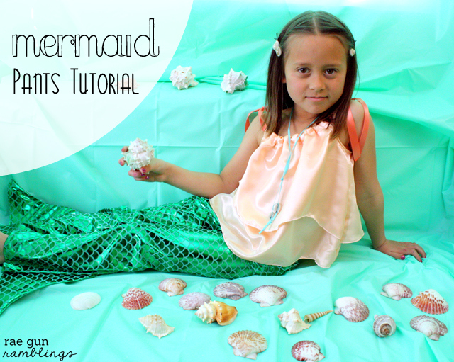 Mermaid Pants Tutorial and lots of tips for costume making at Rae Gun Ramblings
