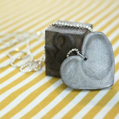 Tutorial: Double Fingerprint Heart Necklace